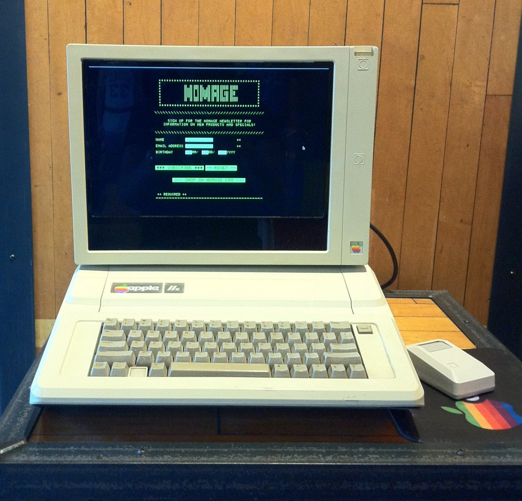 Charles Mangin's Apple IIe newsletter signup station